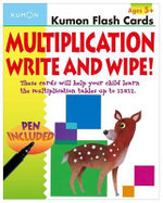 Multiplication Flashcards Write & Wipe : Kumon Flash Cards