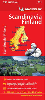 Scandinavia & Finland National Map 711