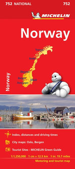 Norway : Michelin National Maps: Number 752 - Michelin