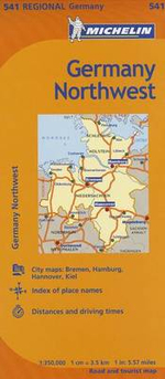 Michelin Germany Northwest Map 541 - Michelin
