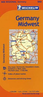 Michelin Germany Midwest Map 543 - Michelin