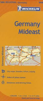 Michelin Germany Mideast Map 544 - Michelin