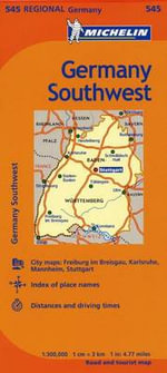 Michelin Germany Southwest Map 545 - Michelin