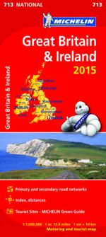 Great Britain and Ireland 2015 National Map 713 - Michelin