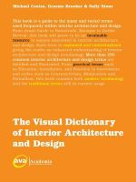 The Visual Dictionary of Interior Architecture and Design : Elements / Objects - Michael Coates