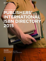 Publishers' International ISBN Directory 2015