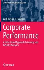 Corporate Performance : Street Vendors in the Urban Economy - Julia Koralun-Bereznicka