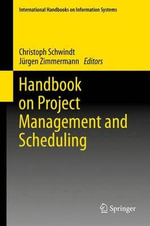 Handbook on Project Management and Scheduling : Volume 1