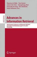 Advances in Information Retrieval : 36th European Conference on IR Research, ECIR 2014, Amsterdam, The Netherlands, April 13-16, 2014, Proceedings