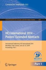 HCI International 2014 - Posters' Extended Abstracts: Part I : International Conference, HCI International 2014, Heraklion, Crete, June 22-27, 2014. Proceedings
