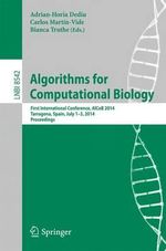 Algorithms for Computational Biology : First International Conference, Alcob 2014, Tarragona, Spain, July 1-3, 2014, Proceedings