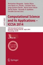 Computational Science and its Applications - Iccsa 2014 : 14th International Conference, Guimaraes, Portugal, June 30 - July 3, 204, Proceedings, Part III
