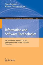 Information and Software Technologies : 20th International Conference, Icist 2014, Druskininkai, Lithuania, October 9-10, 2014, Proceedings