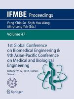 1st Global Conference on Biomedical Engineering & 9th Asian-Pacific Conference on Medical and Biological Engineering : October 9-12, 2014, Tainan, Taiwan