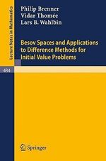Besov Spaces and Applications to Difference Methods for Initial Value Problems - P. Brenner