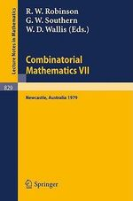 Combinatorial Mathematics VII : No. 7