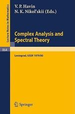 Complex Analysis and Spectral Theory : Seminar, Leningrad 1979/80