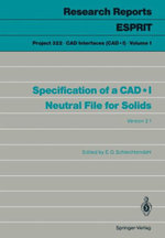 Specification of a CadI Neutral File for Solids - E. G. Schlechtendahl