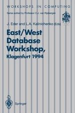 East - West Database Workshop : Proceedings of the Second International East - West Database Workshop, Klagenfurt, Austria, 25-28 September 1994