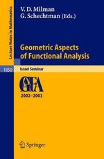 Geometric Aspects of Functional Analysis : Israel Seminar 2002-2003