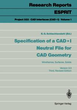 Specification of a CadI Neutral File for Cad Geometry - E. G. Schlechtendahl