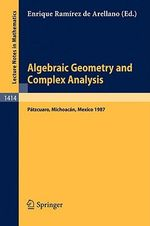 Algebraic Geometry and Complex Analysis : Workshop Proceedings
