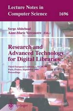 Research and Advanced Technology for Digital Libraries : Third European Conference, ECDL '99, Paris, France, September 22-24, 1999, Proceedings