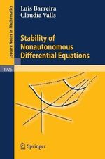 Stability of Nonautonomous Differential Equations :  Dynamics of Systems with Nonzero Lyapunov Exponen... - Luis Barreira