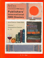 Publishers International ISBN Directory 2005/2006 3v Set - K G Saur Books