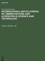 International Encyclopedia of Abbreviations and Acronyms in Science and Technology, Volume 14 - K G Saur Books