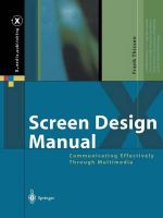 Screen Design Manual : Communicating Effectively Through Multimedia - Frank Thissen