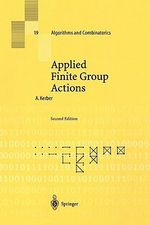 Applied Finite Group Actions : Algorithms and Combinatorics - Adalbert Kerber