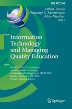 Information Technology and Managing Quality Education : 52 Specific Ways to Improve Your IOS and OS X Prog...