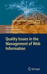 Quality Issues in the Management of Web Information : Part II