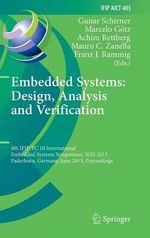 Embedded Systems : Design, Analysis and Verification