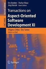 Transactions on Aspect-Oriented Software Development XI