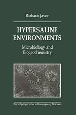 Hypersaline Environments : Microbiology and Biogeochemistry - Barbara J. Javor