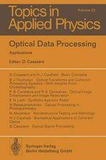 Optical Data Processing : Applications