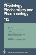 Reviews of Physiology, Biochemistry and Pharmacology - M. P. Blaustein