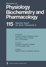 Special Issue on Ionic Channels II : Reviews of Physiology, Biochemistry and Pharmacology - M. P. Blaustein