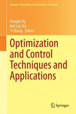 Optimization and Control Techniques and Applications