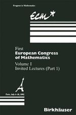 First European Congress of Mathematics, Paris, July 6-10, 1992