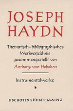 Haydn Thematic Catalog Vol. 1 : The Original Screenplay - Anthony Van Hoboken