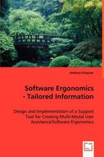 Software Ergonomics - Tailored Information - Andreas Krippner
