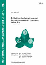 Optimizing the Completeness of Textual Requirements Documents in Practice - Igor Menzel