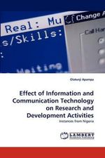 Effect of Information and Communication Technology on Research and Development Activities - Olatunji Apampa