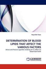 Determ Nation of Blood Lipids That Affect the Various Factors - Hayrullah Yazar