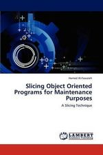 Slicing Object Oriented Programs for Maintenance Purposes - Hamed Al-Fawareh