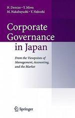 Corporate Governance in Japan - Nobuyuki Demise