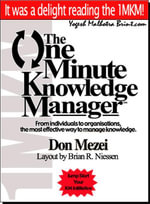 The One Minute Knowledge Manager - Don Mezei